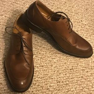 Johnston & Murphy Sz 10W Brn Leather Split Moc Toe
